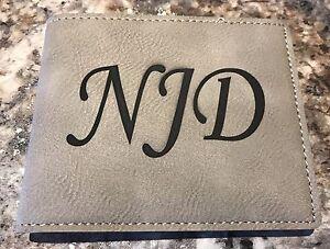 Personalized Wallet, Leatherette - Groomsman Gift