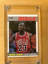 MICHAEL JORDAN BULLS 2ND YEAR CARD #59  87-88 1987 FLEER BASKETBALL NrMt +