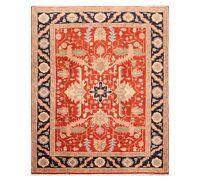 8' x 10'  Hand Knotted Wool Rare Romanian Seraapi Oriental Area Rug Burnt Orange