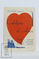 Original 1939 Cavalçade d'Amour Movie Advertising Leaflet - Simone Simon