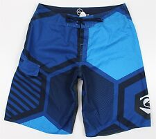 "NEW Quiksilver Cypher Series 22"" Boardshorts MENS 34 Blue Swim Shorts Surf"