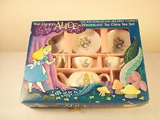 Vtg Disney ALICE IN WONDERLAND Toy Miniature China Tea Set MADE IN JAPAN w/ Box