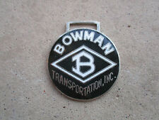 vintage 1980 Bowman Transportatio trucker trucking truck driver watch fob charm
