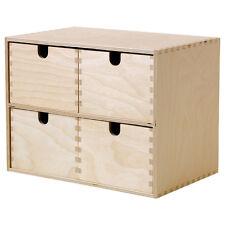 IKEA MOPPE Mini-Kommode Holz 4 Schubladen 29x18x22cm Minikommode Kommode