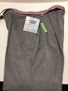 VTG Levi's Womenswear Gray Corduroy Pants NWT Womens 34x32 w/ Belt USA WPL 423