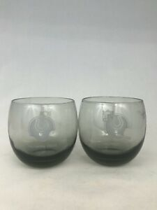 BALTIMORE COLTS VINTAGE 1980'S NFL ROCKS  GLASS SET (2)