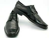 ECCO BLACK LEATHER LACE UP CAP TOE OXFORDS MEN'S SIZE EUR 47 US SIZE 13-13.5