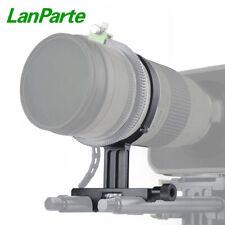 Lanparte Lightweight Tele Lens Support with Rubber Belt for DSLR Camera 15mm Rod