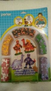 Perler Fused Bead Kit Dragons 'n Knights 048533559961 12 Projects 2000 Beads 6+