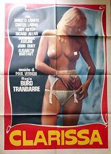 manifesto movie poster 2F CLARISSA trunbarre Brigitte Lahaie erotico CLARISSE