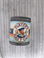 More details for nice vintage cigarette tin - players navy cut medium 8cm high and 6.5 cm round