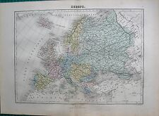 1883 ANTIQUE MAP- EUROPE