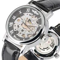 Automatic  Self-Wind Mechanical Leather Strap Female Lady Gift Women Wristwatch