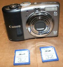 Canon PowerShot A1000 IS 10MP Digital Camera PC1309 4X Optical Zoom 2 32MB SD