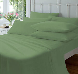 100% Egyptian Cotton 1000 TC 1 Piece Flat Sheet All Sizes Colors Solid Top Sheet