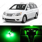 19 x Green LED Lights Interior Package Kit for Honda Odyssey 2005 - 2010 + Tool