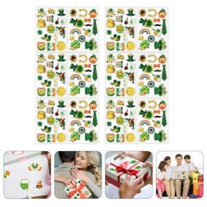 1 Set Exquisite Removable Decals for St. Patrick's Day
