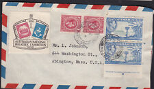 Australia 1950 ANPEX Cinderella on Jamaica KGVI Postal Cover to Mass USA