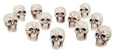 3x Totenkopf ca 4 x 4 cm - Halloween Dekoration Party Grusel