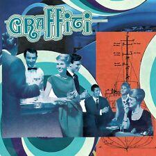 """Collage sur carton à encadrer 19x19 cm """"GRAFFITI"""""""