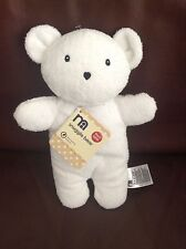 "Mothercare Flat White Snuggle Teddy Bear 10"" Baby Rattle Soft Toy Comforter New"