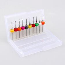 Kit 10 unidades  mini micro brocas 0.3 - 1.2mm herramienta rotativa Dremel 3D