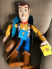 """RARE Toy Story 2 JUMBO Large Woody Doll 31"""" W/ Hat & Holster NWT 2001"""