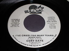 Cory Daye: I've Cried (Too Many Tears) (radio edit) / (Extended) 45