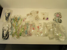 Lot of FASHION COSTUME JEWELRY (80 PIECES) All still packaged old stock!!! NR!