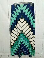 Womans Long Skirt Elastic Waist Maxi Modest New York & Company Colorful Size S