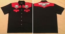 Motorhead Dragonfly L Rare 2005 Embroidered T Shirt Snaggletooth Lemmy Kilmister