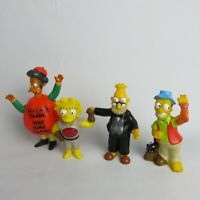 The Simpsons 4 Figure Lot vintage Burger King small figurine 1990-2011