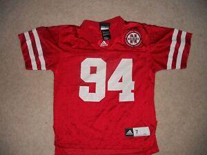 Nebraska CornHuskers Football Jersey Adidas #94 Child 7 Go Big Red Winning Trad