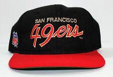 Vintage San Francisco 49ers Sports Specialties Script Black Dome Snapback Auto