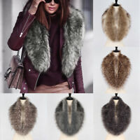 Women Elegant Winter Warm Faux Fur Collar Scarf Neck Stole Shawl Wrap Cape New