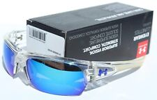 UNDER ARMOUR Big Shot Sunglasses Crystal/Blue Multi NEW Sport/Cycle $105
