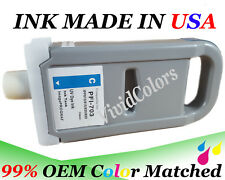 Adaptable ink Cartridge fit canon PFI-703 Cyan  Ink iPF 810 815 820 825 printer