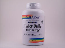 Solaray Twice Daily (Iron Free) Multi-Energy Multi-Vita-Min 120 Capsules