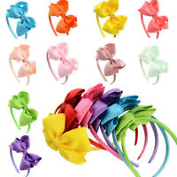 Hair Band Bow Knot Headband Hoop Solid Hairband Hair Accessories