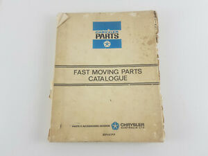 Chrysler Valiant - others fast moving parts book 1980,s Genuine