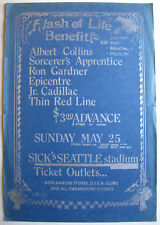 ALBERT COLLINS Sick's Seattle Stadium 1969 CONCERT POSTER Blues BENEFIT Show