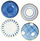 10 Inches-Japanese Style Hand Printed Assorted Patterns Porcelain Dinner Plat...