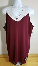 Under Armour Men's Sleeveless Burgundy and White Jersey Xl