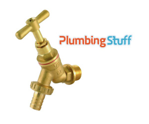 """1/2"""" BIB TAP BRASS Hose Union with Double Check Valve / Garden Outdoor Tap"""