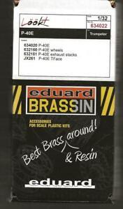 Eduard Regarde Plus / Avec / Brassin P-40E Détails en 1/32 Pour Trumpeter Kit