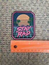 Stay Rad Sew or Iron on Patch NEW Dope Cool Hippie 420 Peace