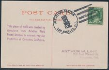 #331 ON PIONEER FLIGHT POSTCARD JAN 28 LOS ANGELES, CAL. BT7266
