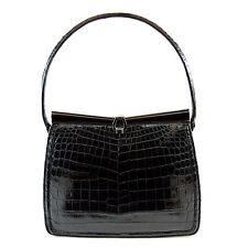 e452bb9ad68e Lucille De Paris Black Alligator Evening Bag Purse