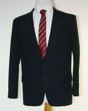 Hand Made Mens Suit 40R Black Striped