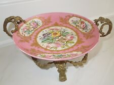 19th Century ANTIQUE FRENCH PINK SEVRES GILTED BRONZE MARKED